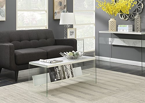 Convenience Concepts 131557WM SoHo Coffee Table, Faux White ()