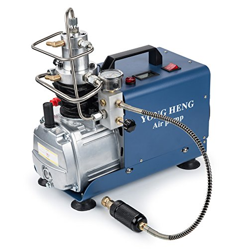 High-Pressure Air Compressor Pump, Auto-Stop 110V 30Mpa Electric Air Pump Air Rifle PCP 4500PSI Paintball Fill Station for Fire Fighting and Diving