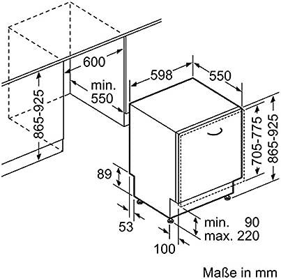 Constructa cg6b55 V8 empotrable de lavavajillas/A + +/completo ...