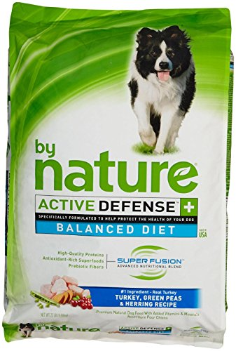 By Nature Active Defense Balanced Diet Dog Food - Turkey, Green Peas And Herring - 22 Lb