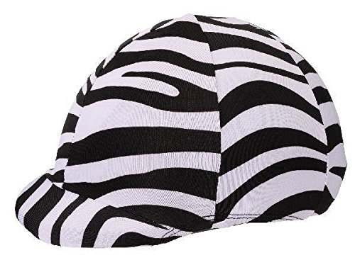 Tough 1 Zebra Fun Print Spandex Helmet Cover Horse Tack 19-715