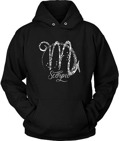 Birthday Symbol Long Sleeve Scorpio Hoodie Zodiac Sign Sweatshirt Plus Size Up to 5X