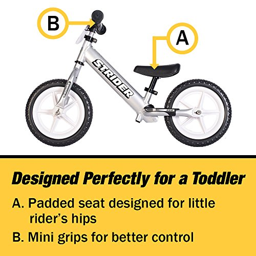 Strider - 12 Pro Balance Bike, Ages 18 Months to 5 Years, Silver by Strider (Image #5)