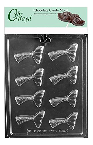 Cybrtrayd Mermaid Tail Chocolate Candy Mold in Sealed Poly Bag (Sea Life Cake Pan)