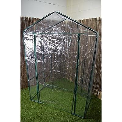 Oypla-3-Tier-4-Shelf-Mini-Walk-in-Growhouse-Garden-Greenhouse