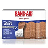 BAND-AID Brand Adhesive Bandages Tough Strip 60 ea (Pack of 2) WLM