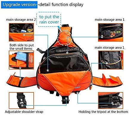 Color : Black Size: 332417cm HEGGWEI Triangle Shape Tscope Sling Shoulder Cross Digital Camera Bags Case Soft Bag with Rain Cover for Canon for Nikon for Sony Black