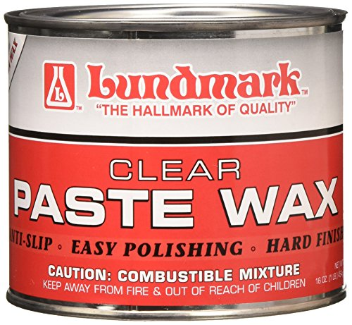 Lundmark Carnauba Paste Wax, Clear, 1-Pound, 3206P001-6