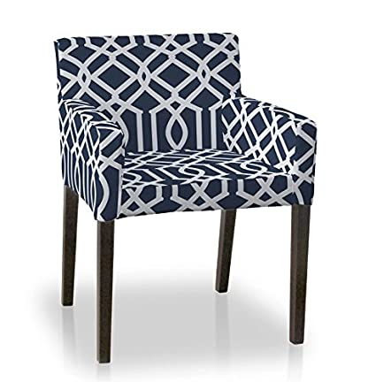 Fantastic Dekoria Ikea Nils Chair Cover White Pattern On Dark Blue Pdpeps Interior Chair Design Pdpepsorg
