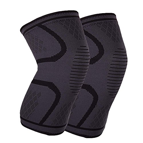 YJWB knee pads,Sports knee Athletics Knee Compression Sleeve Support for Running, Jogging, Sports, Basketball, Joint Pain Relief, Arthritis and Injury Recovery, Men and Women (black, (Savage Black Mat)