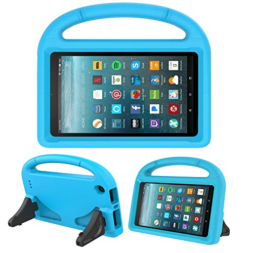 Kids Case for New Fire 7- TIRIN Light Weight Shock Proof Handle Kid –Proof Cover Kids Case for Amazon Fire 7 Tablet (5th Generation, 2015 Release and 7th Generation, 2017 Release),Blue