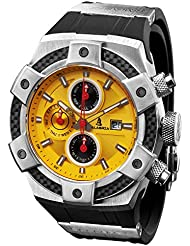 CALABRIA - ARMATO OPACO - Yellow Dial Men Watch with Carbon Fiber Bezel