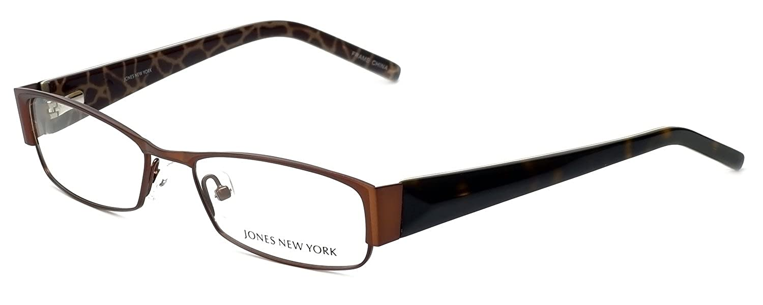 fc2fbb5286 Amazon.com  JONES NEW YORK J446 Eyeglasses Brown 52-17-135  Clothing