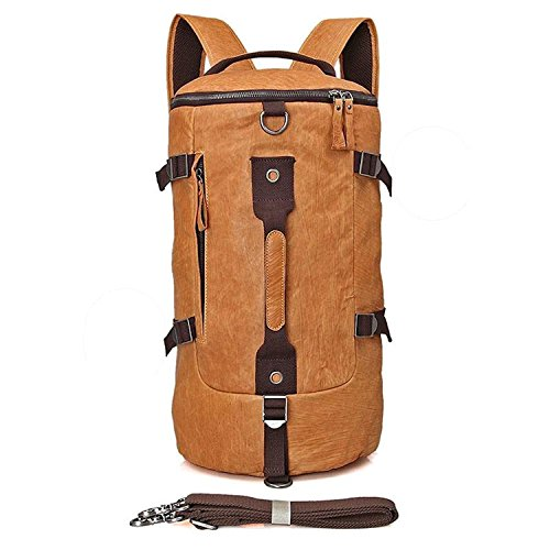 Clean Vintage Backpack Messenger Duffle Travel Hiking Camping Gym Sport Bag Real Leather by Clean Vintage
