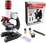 SPJ: Microscope 100x 400x 1200x Kit Basic Science Early Educational Insights Toy Set for Children With LED Light