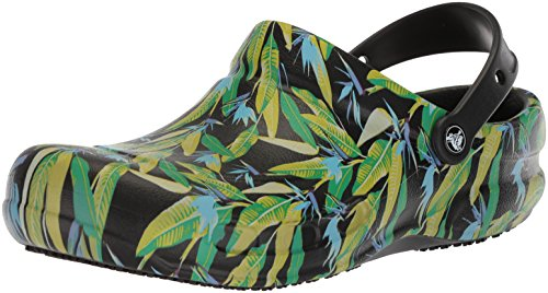 Noir black Green Graphic parrot Clog Bistro Mixte Adulte Sabots Crocs PT6Wq6
