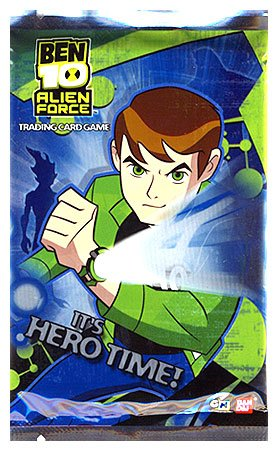 Ben 10 (Ten) Collectible Card Game Alien Force It's Hero Time Booster Pack - Ben 10 Card Game