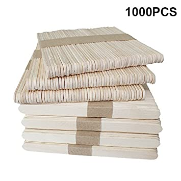 amazon com 1000 pcs 4 5 inch natural wood popsicle craft sticks for