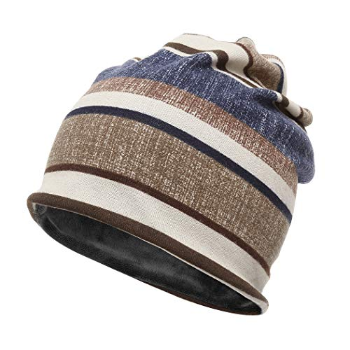 FUNOC Neck Warmer Beanie Scarf Hood Men Women Cold Weather Winter Mask Face Hat (Coffee 1)
