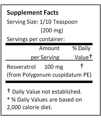 NuSci Pure Resveratrol Powder Standardized Extracted from Polygonum Cuspidatum Root (250 grams (8.8 oz)) by NuSci (Image #2)