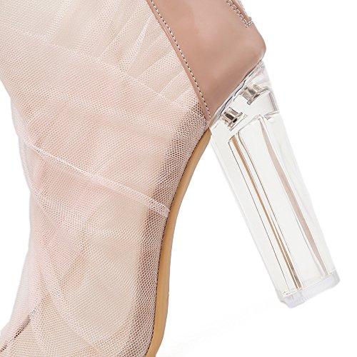 expuestos neto de cristales de Señor con alto pescado tacón de mujer sandalias boca sandalias transparente con black hilados transpirable grueso zapatos ZHZNVX de APFtw