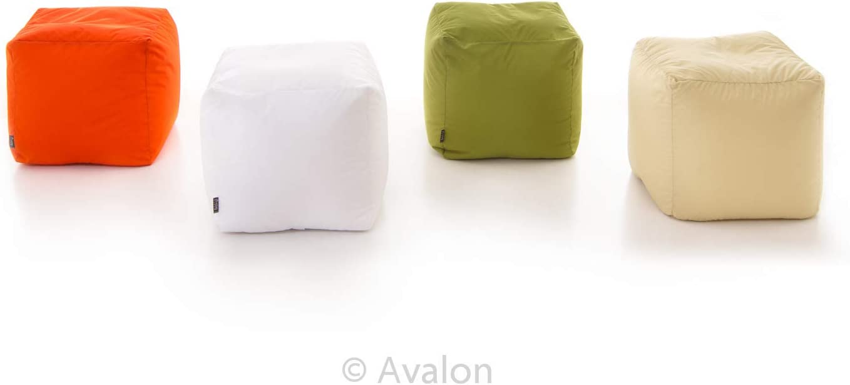 Avalon Pouf Cilindro Jive Tessuto Tecnico antistrappo Petrol Imbottito