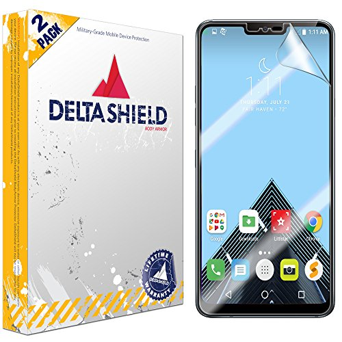 LG G7 ThinQ Screen Protector (LG G7+ ThinQ)[2-Pack], DeltaShield BodyArmor Full Coverage Screen Protector for LG G7 ThinQ Military-Grade Clear HD Anti-Bubble Film