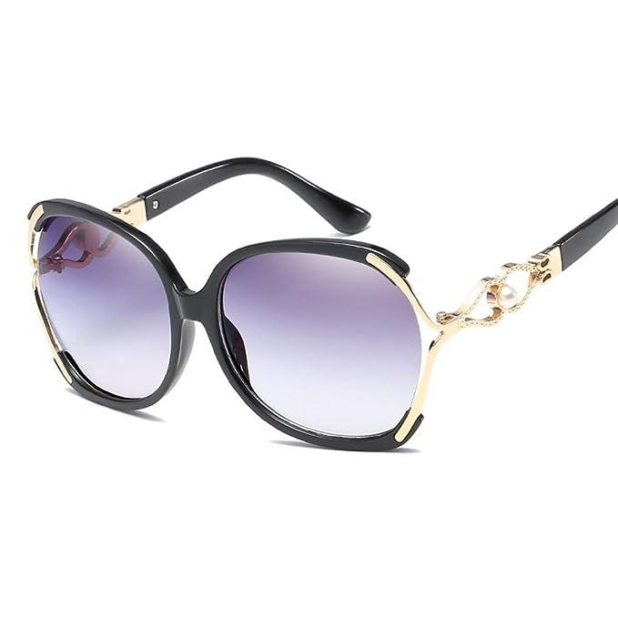 Amazon.com: anteojos de sol de moda para las mujeres Anti ...