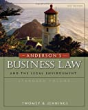 img - for Andersons Business Law and the Legal Environment, Standard Volume by Twomey, David P., Jennings, Marianne M. [Cengage,2010] (Hardcover) book / textbook / text book