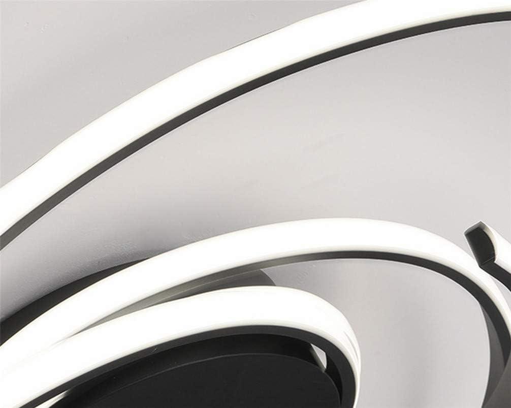 plafoniera Moderno led Soffitto Dimmerabile con Telecomando 56cm 60w 3000-6500K Plafoniere,Art Design Metallo Acrilico lampadari Cucina Bagno Camera da Letto Soggiorno Decorazione Luce Bianco