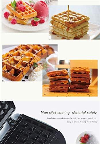 Sandwich Maker gaufriers Mini gâteau Maker 750W petit-déjeuner machine de cuisson machine Presses collations Revêtement anti-adhésif blanc KNDTA