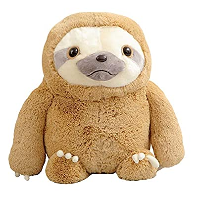 Crazy Animal City Sloth Doll Novelty Safe Smooth Down Down Cotton Suitable for Women or Children,70cm: Home & Kitchen