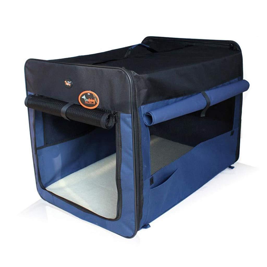 bluee 424260cm bluee 424260cm Playpens & Pens Pet Tent Foldable Pet Fence Portable Outdoor Dog Tent Multi-function Car Pet Cage Foldable Pet Delivery Room Cat Play Fence (color   bluee, Size   42  42  60cm)