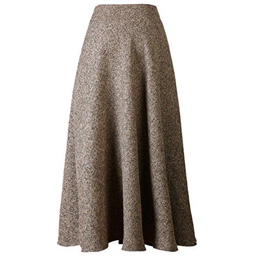 Najia Symbol Womens High Waisted A-line Flared Long Skirt...