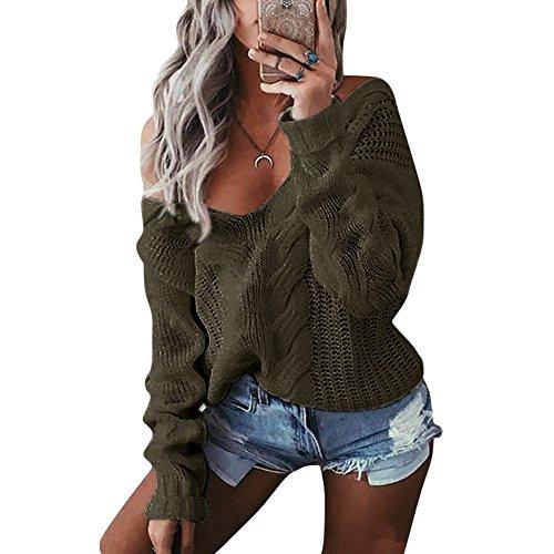 V Tricot Sweater Femme Shujin Col ayI4IZq
