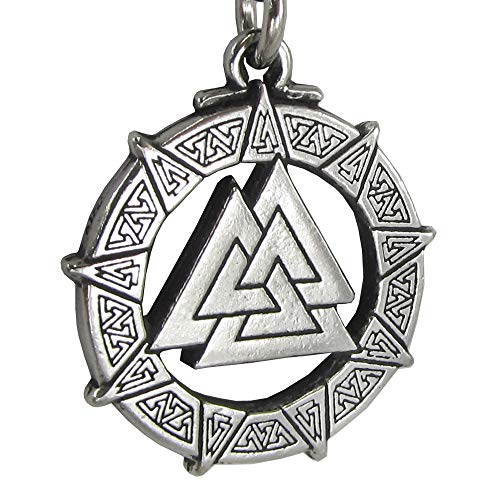 Pewter Valknut Warrior's Knot Pendant Valkyrie Viking Necklace