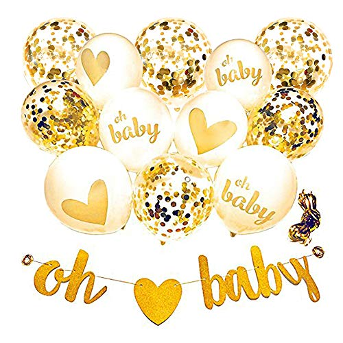 Todyt Baby Shower Decorations Neutral Decor Oh Baby Strung Banner