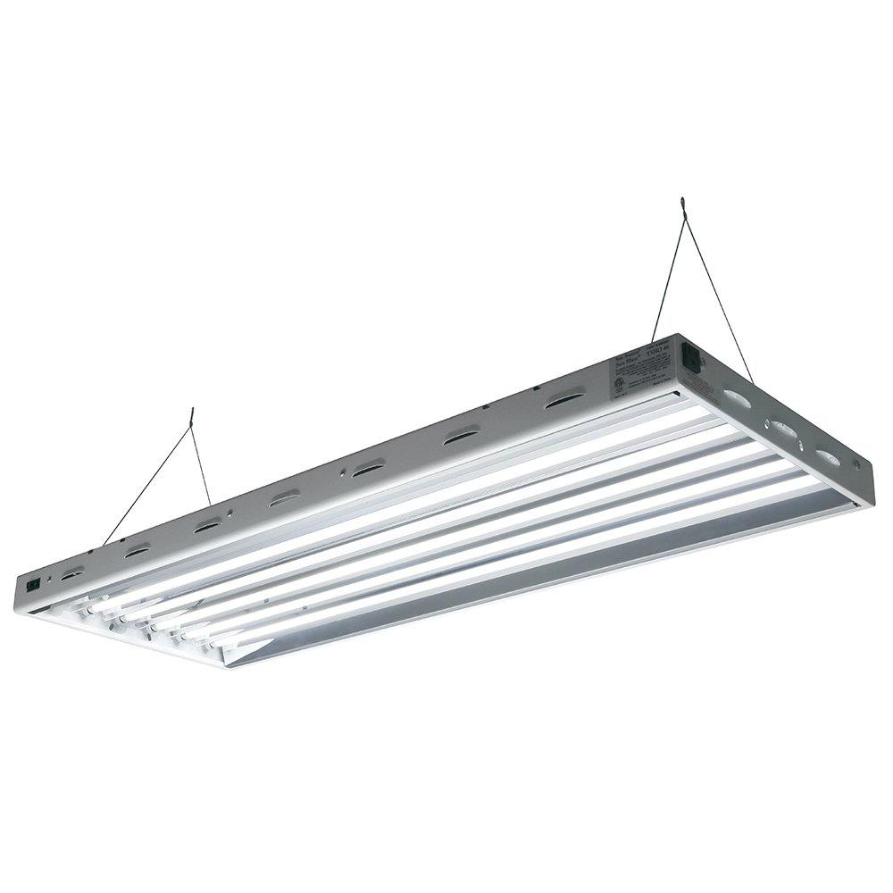 Amazon com sun blaze t5 fluorescent 4 ft fixture 6 lamp 120v indoor grow light fixture for hydroponic and greenhouse use ceiling pendant