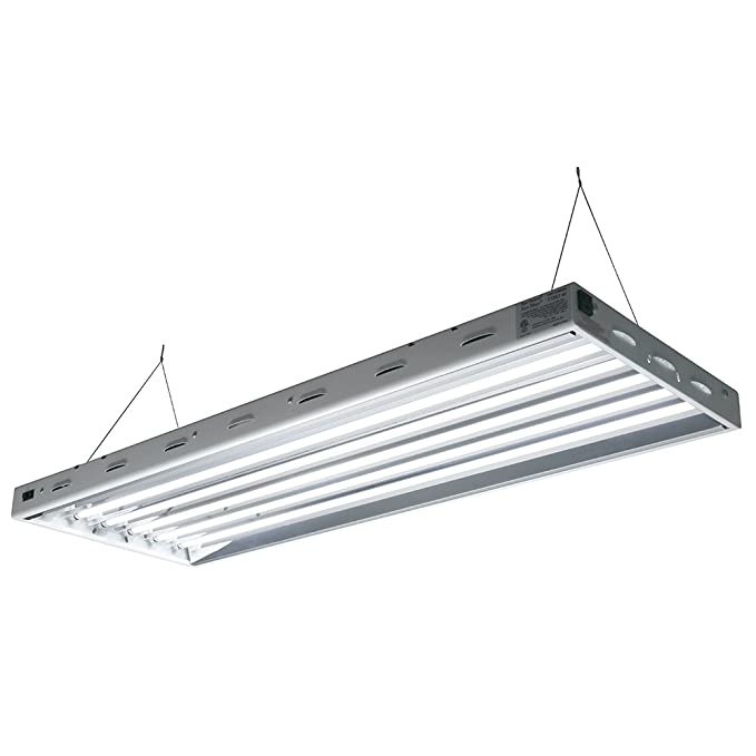 Com Sun Blaze T5 Fluorescent 4 Ft Fixture 6 Lamp 120v Indoor Grow Light For Hydroponic And Greenhouse Use Ceiling Pendant