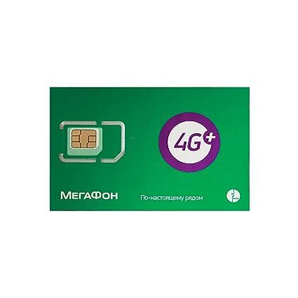 Amazon.com: Rusia MegaFon Prepago SIM tarjeta LTE de datos 5 ...