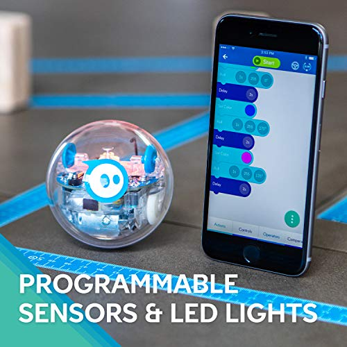 App-enabled robot ball with programmable sensors