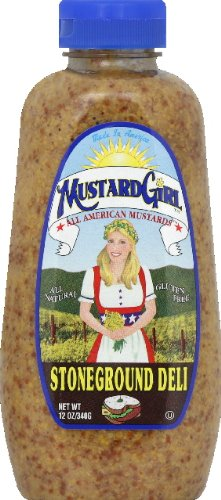 Mustard Girl All American Mustards Condiment, Stoneground Deli, 12 Ounce (Pack of 12) by Mustard Girl All American Mustards