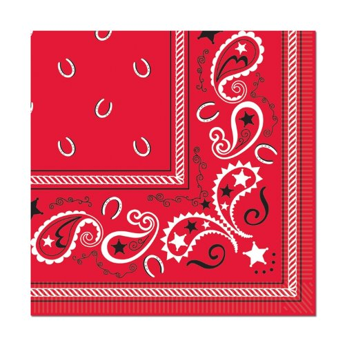 Bandana Beverage Napkins (2-Ply)    (Red Bandana Halloween Ideas)