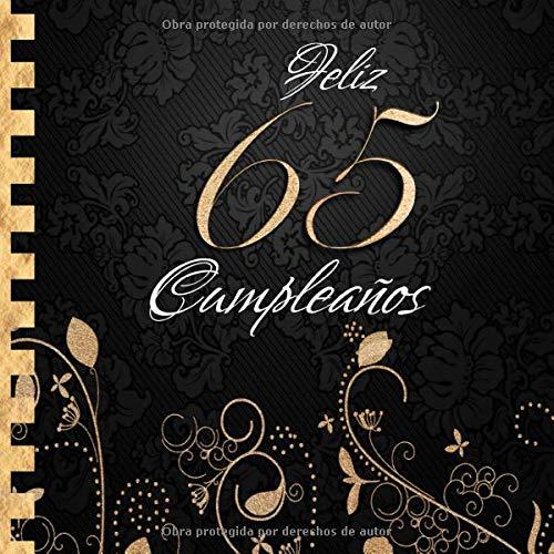 Feliz 65 Cumpleaños: Libro de Visitas I Elegante ...