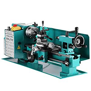 Mophorn Metal Lathe 7 x 12 Inch Variable Speed Mini Lathe 2500 RPM 550W Precision Mini Metal Lathe Micro Milling Bench Top Lathe Machine with 22mm Tailstock Sleeve (7 x 12 Inch)