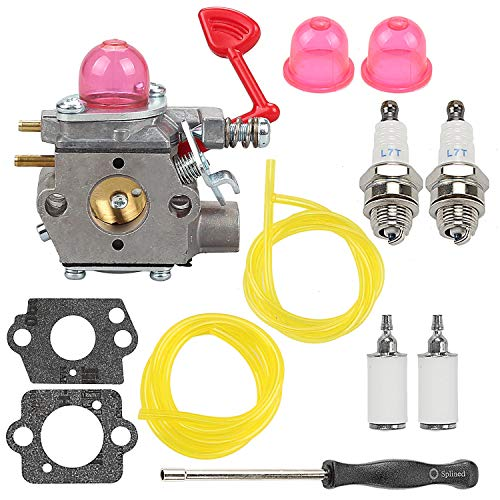 Panari WT-875 Carburetor for Craftsman Poulan Pro BVM200VS BVM200C P200C GBV325 P325 Blower with Fuel Filter Line Gasket Replace 545081855 WT-875 WT-875A