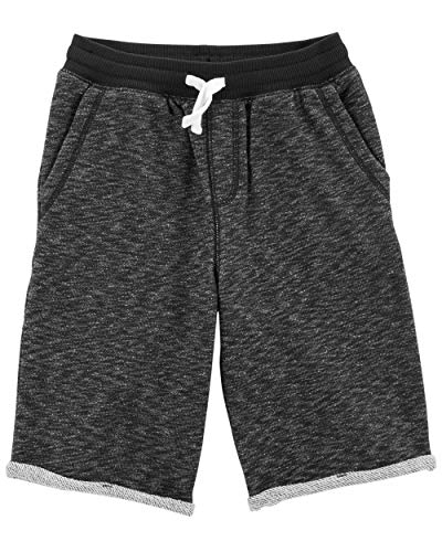 Carter's Big Boys' Easy Pull On Knit Shorts, Black, 14 Kids ()