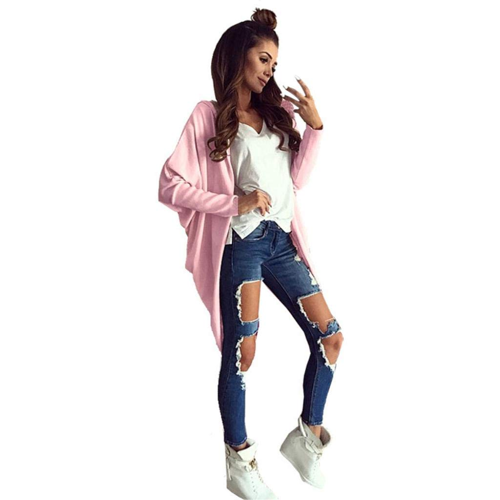 Spbamboo Womens Cardigan Oversize Long Jacket Open Front Bat Sleeve Coat Outwear