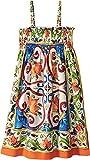 Dolce & Gabbana Kids Girl's Sleeveless Dress (Big Kids) Maiolica Print 12