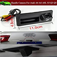 Replacement Car Trunk Handle + CCD Rear View Reverse Backup Parking Camera for Audi A4 A6 A8L S5 Q3 Q5